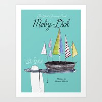 Moby Dick Book Cover Art Print