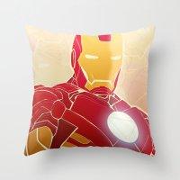 Iron Man Armor Throw Pillow