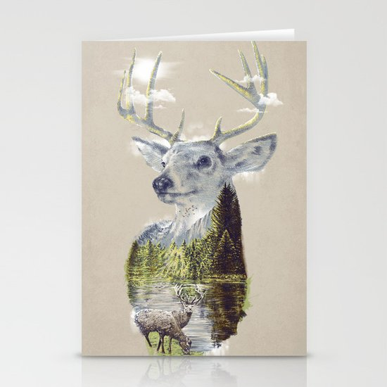 Mo'deer' Nature Stationery Card