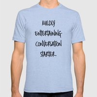 Conversation starter Mens Fitted Tee Athletic Blue SMALL