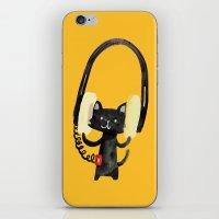 I Love Huge Headphone iPhone & iPod Skin