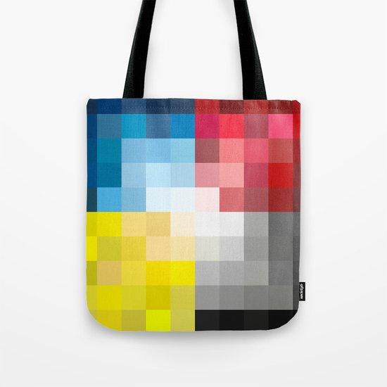 CMYK Pixel Tote Bag