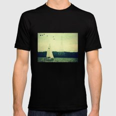 Come Sail Away Mens Fitted Tee Black SMALL