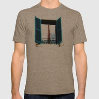 Window To The Present Mens Fitted Tee Tri-Coffee SMALL