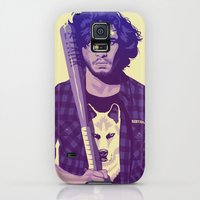 Galaxy S5 Cases featuring GAME OF THRONES 80/90s ERA CHARACTERS - Jon Snow by Mike Wrobel