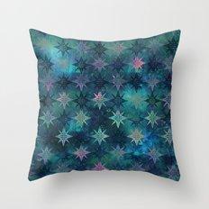 Bohemian Night Skye - Green Throw Pillow