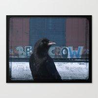 Be Crow Canvas Print