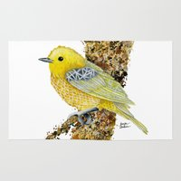 Yellow Warbler Tilly Rug