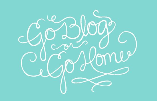 Go Blog or Go Home Canvas Print