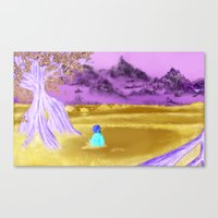 If One Sat Beneath The Blue Sky Canvas Print