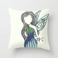 Silvermist Zen Tangle Throw Pillow