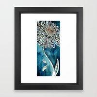 Flower Paintings: Lace Flower Framed Art Print