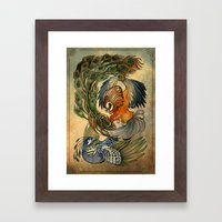 Cockfight Framed Art Print