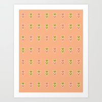 Intersecting Triangles Art Print