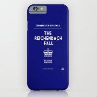 iPhone & iPod Case featuring BBC Sherlock The Reichenbach Fall Minimalist Poster by ofalexandra