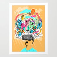 Adventures in the Oculus Rift Art Print