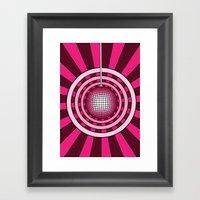 Glitterball Framed Art Print