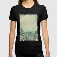 Fading Dreams Womens Fitted Tee Tri-Black SMALL