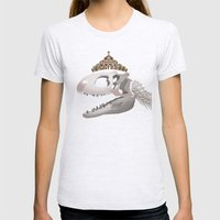 Rex, the King of Dinosaur Womens Fitted Tee Ash Grey SMALL