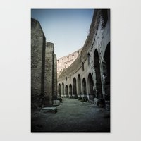 Faded Memories: Colosseum Canvas Print
