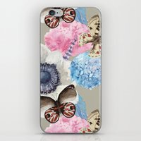 Vintage Flowers & Moths iPhone & iPod Skin