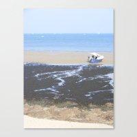 Beach & Boat Canvas Print