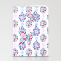 Butterflies and Asian Jars Stationery Cards
