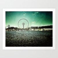 Paris Wheel II Art Print