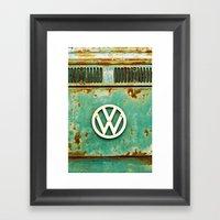 VW Retro Framed Art Print