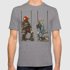 Turbo Kid Mens Fitted Tee Tri-Grey SMALL