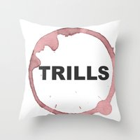 Trills Logo Throw Pillow