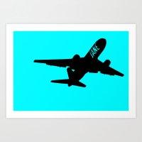 Plane Jane Art Print