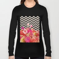 Chevron Flora II Long Sleeve T-shirt