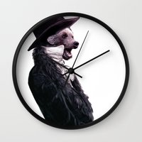 Unbearable gentleman Wall Clock