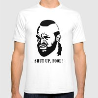 B.A. Baracus (Mr. T) Fro… Mens Fitted Tee White SMALL