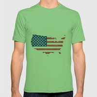USA Mens Fitted Tee Grass SMALL