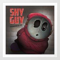 Shy Guy - Mushroom Healt… Art Print