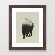 Night Bison Framed Art Print