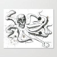 The Octoskull Canvas Print