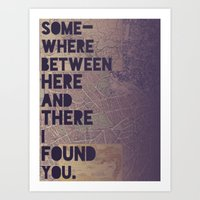Here & There Art Print