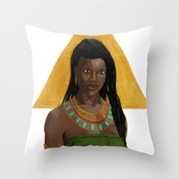 Egyptian Lotus Throw Pillow