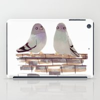Pigeons in love iPad Case
