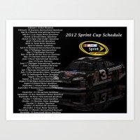 2012 Sprint Cup Schedule Art Print