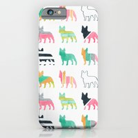 iPhone Cases featuring French Bulldogs by Anne Was Here
