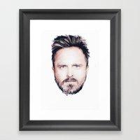 Aaron Paul Digital Portr… Framed Art Print