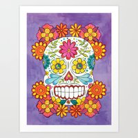 Day of the Dead Sugar Skull Art Print