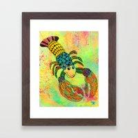 Zentangle Lobster Framed Art Print