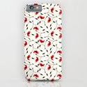 Strange Red Flowers Pattern iPhone & iPod Case