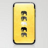 Five Elephants / Gold iPhone & iPod Skin
