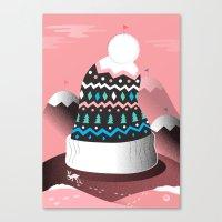 Mount Pom-Pom Canvas Print